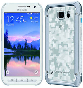 Mint Condition Samsung GALAXY S6 Active- White -Unlocked-32GB =$