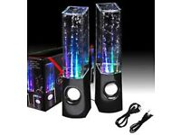 Stereo LED dancing water speakers £10