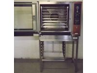 Used Lainox 8 Grid Gas & Electric Combi Oven On Stainless Steel Stand Hire/Buy Using Easy Payments