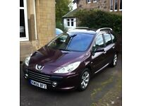 Peugeot 307 sw se hdi 110 Diesel Estate,full service record low miles 6seats,towbar,lovely condition