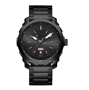 Mens quarts watch with calendar (Black-Red) (P.S-Free shipping) Kirrawee Sutherland Area Preview