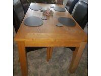 Large Oak Veneer 180cm Dining Table FREE DELIVERY 490