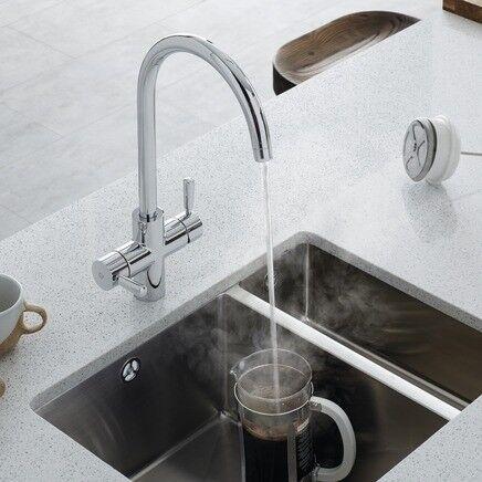 New Kitchen 3 In 1 Hot Water Tap Kettle Lamona Chrome Arroscia In