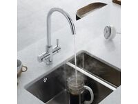 New kitchen 3 in 1 Hot Water Tap kettle Lamona Chrome Arroscia