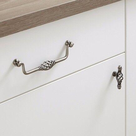 Kitchen cupboard Pewter Effect twist cage handles