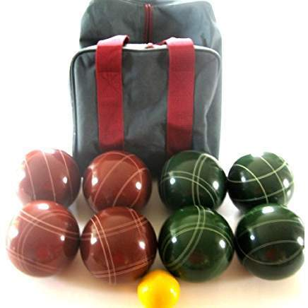 Epco Premium Quality Bocce set -110mm Red and Green Balls