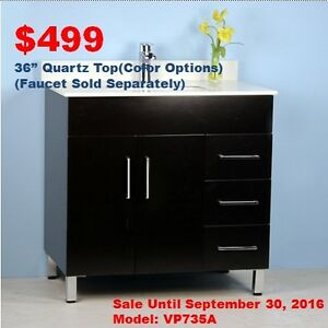 Bathroom Vanities from $129/Faucets from $59! SALE ON NOW!