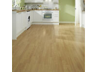 New Oak 6mm Good Quality Howdens Laminate Flooring £5 per meter square was £18