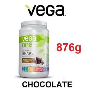 NEW VEGA ONE PROTEIN POWDER VEG10520 187063437 PLANT BASED, CHOCOLATE, 876g, ALL IN ONE