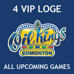 4 Loge Oil Kings VIP Tickets for All Upcoming Games