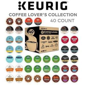 NEW 40PK KEURIG VARIETY BOX K-CUPS 219161026 COFFEE LOVER GREEN MOUNTAIN COFFEE SINGLE SERVE SAMPLER EXP:JAN/16/2019
