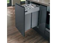 Howdens 64L integrated recycling bin to fit 450mm kitchen cabinet door (NOT including the door unit)