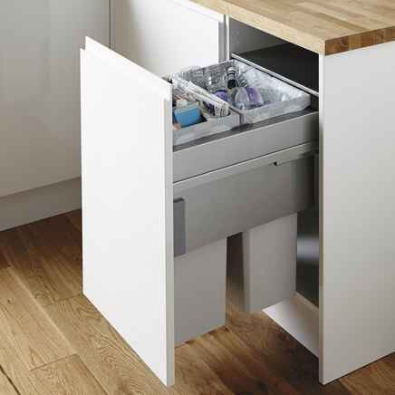 Howdens Kitchen Cupboard Recycling Bin 64l Integrated