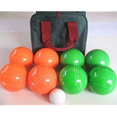 Epco Premium Quality Engraved Bocce set -110mm Orange and Green Balls