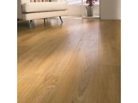 Oak Premium Laminate Flooring With Underlay & Beading £45 a Square Meter Fitted