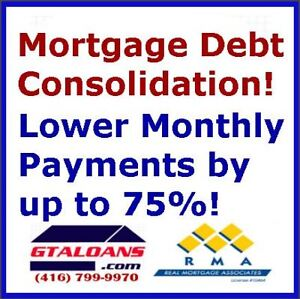 Mortgage debt consolidation. Lower monthly payments by up to 75%