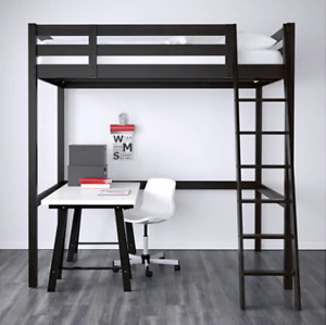 Ikea Loft Bed - STORA  like brand new (Made of Solid Wood)