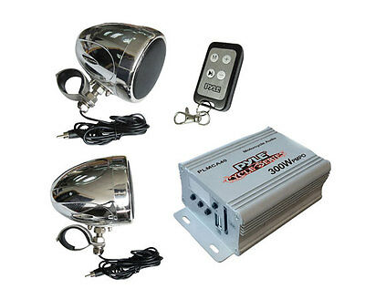 PYLE PLMCA40 300W ATV/MOTORCYCLE/BOAT Audio Speaker Amplifier MP3 Amp Package on Rummage