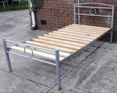 king single metal frame bed with mattress
