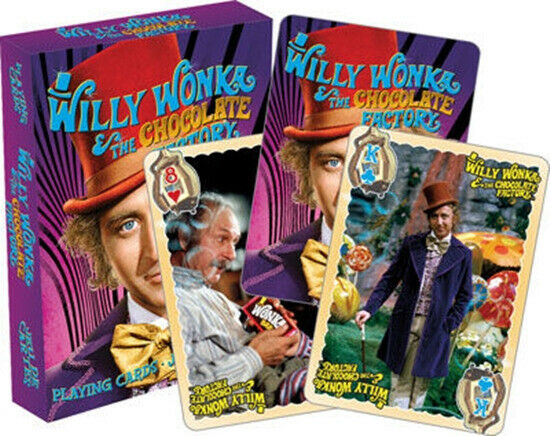 Willy Wonka and the Chocolate Factory Movie Photo Images Playing Cards SEALED