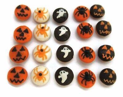 20 Halloween Foods (20  Halloween Donuts  Bakery  DOLLHOUSE MINIATURE FOOD DECOR)