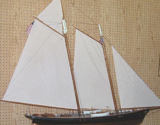 Vintage Ship Model America Sailing Yacht of 1851    - America
