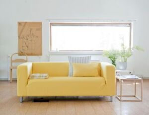 Yellow Klippan Loveseat sofa