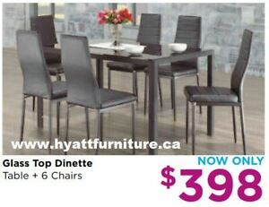 Brand new 7pcs Glass top Dinette only $398 - We deliver in GTA