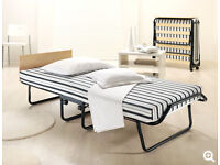 JAY-BE Single Folding Guest Bed on wheels for easy moverability & with Airflow Mattress & HEADBOARD