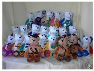 Stuffed-9-Collectible-State-quarter-coin-bears-1-50-5-extra-teddy-bears