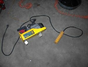 USED POWERFIST 115V CABLE WINCH OR HOIST W/ REMOTE $100.00