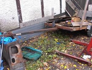USED 4 X 6' ULTILITY TILT DECK TRAILER NEED WOOD FINISHED $400