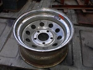 "NICE NEW 15"" X8"" WIDE CHROME CUSTOM STEEL WHEEL 5L 5.5' BC FORD"