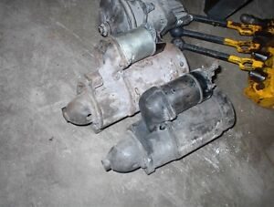 2 USED GM STARTERS LATE 1950S CADILLAC V8S $35.00 EACH