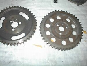 2 NEW STEEL SB CHEV DOUBLE ROOLER TIMING SET UPPER GEARS $10E
