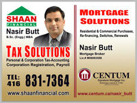Personal & Corporation Tax-Accounting & Mortgage Solutions