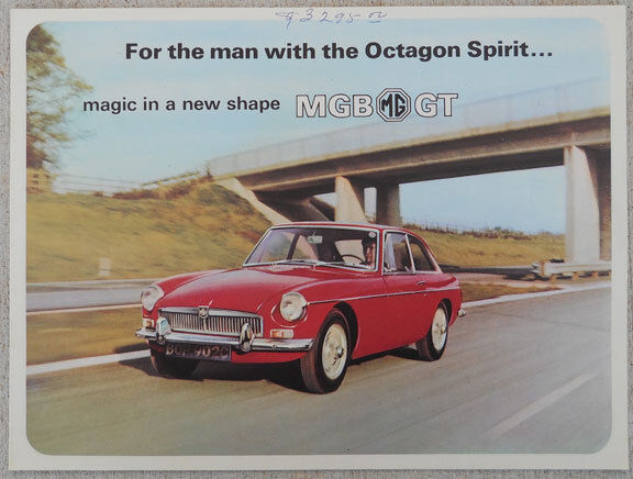 MG MGBGT 1966 brochure - 8 page great condition