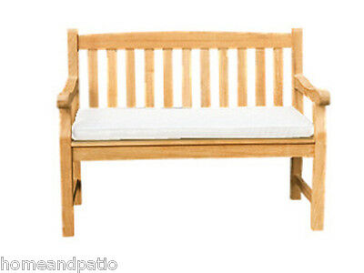 Royal Teak  Two Seater Bench Cushion in Off White