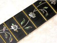 Tree of life - guitar neck - Brand new - Ebony fretboard on Maple neck