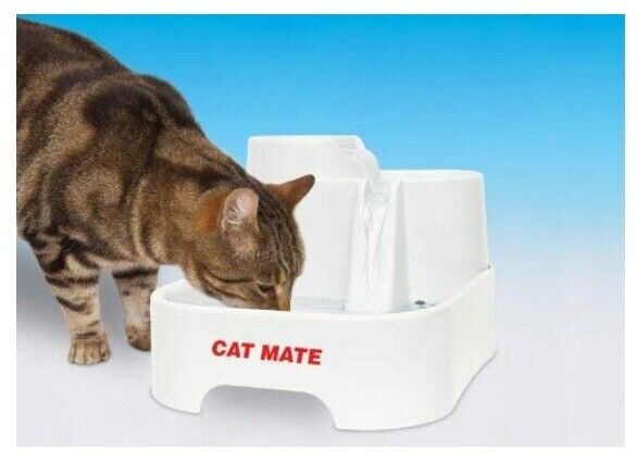 Cat Mate Fresh Water Drinking Fountain For Cats And Small Dogs New Dishes, Feeders & Fountains
