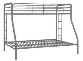 silver metal bunk bed