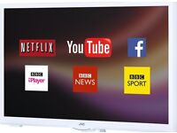 JVC 24 Inch LED smart wifi tv, freeview, remote. Like new only used twice. Bargain