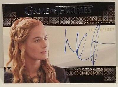 2015 Game of Thrones Valyrian Steel Autographed Lena Headey As Cersei/Rittenhous