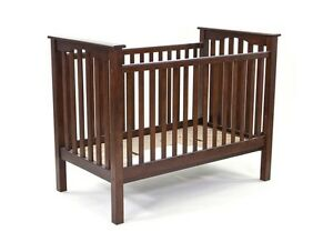 Pottery barn crib with fixed gate and toddler bed conversion kit