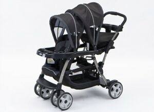 Graco Click Connect Ready to grow sit and stand stroller.