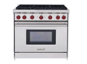 """Wolf 36"""" All Gas Stainless Steel Range NEW $8500"""