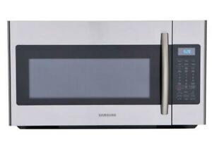 SAMSUNG STAINLESS STEEL OVER THE RANGE MICROWAVE-- NEED TO CLEAR OUT!