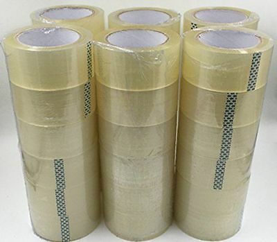 Packing Tape 36 Rolls 2 X 110 Yards 330 Ft Box Carton Sealing Clear 2 Mil