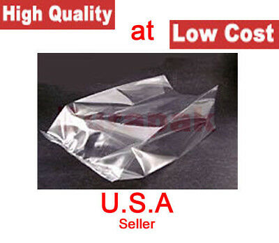 1000 8x3x15 1 Mil Plastic Clear Poly Bags Side Gusset Bag Produce Supermarket