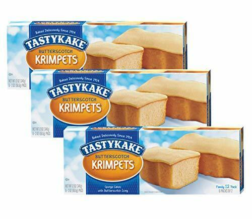Tastykake Butterscotch or Jelly Krimpets Family Size 12 Pk- 3 Packages